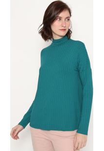 Blusa Canelada - Verde Escuromalwee