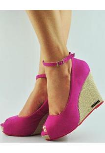 Sandália Antônia Domingues Anabela Feminina - Feminino-Pink