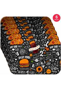 Jogo Americano Love Decor Wevans Fast Food Kit Com 6 Pçs