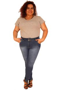 Calã§A Jeans True E-Motion Superskinny Plus Size Intense Blue Azul - Multicolorido - Feminino - Dafiti