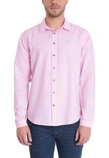 Camisa Timberland Cotton Stripes Masculina - Masculino-Rosa