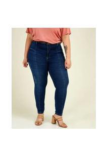 Calça Plus Size Feminina Jeans Skinny