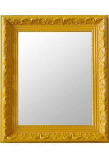 Espelho Moldura Rococó Raso 16369 Amarelo Art Shop