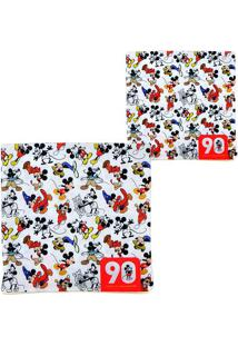 "Capa Para Almofada Mickeyâ® ""90""- Branca & Vermelha- Mabruk"
