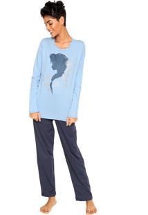 Pijama Lupo Elsa Azul