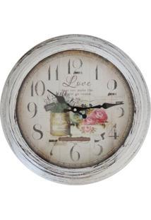 Relógio De Parede Rústico Garden 37Cm - Tricae