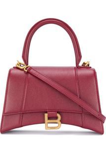 Balenciaga Small Hourglass Top-Handle Bag - Vermelho