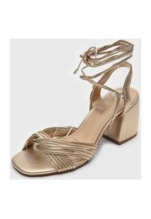 Sandália Bottero Metalizada Dourada