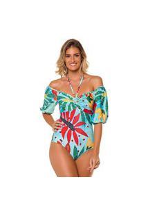 Maiô Kalini Beachwear Body Resort Proteção Uv50+Pro Aruba
