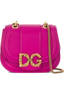 Dolce & Gabbana Bolsa Dg Amore Pequena - Roxo