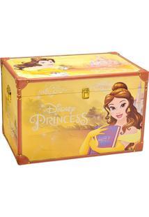 Baú Princesa Bela®- Amarelo & Marrom Claro- 40X60X40Mabruk