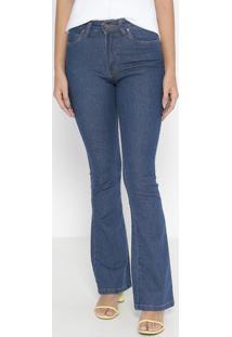 Jeans Flare Sally Com Bolsos - Azul Escurowrangler