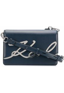 Karl Lagerfeld Bolsa Tiracolo K/Signature - Azul