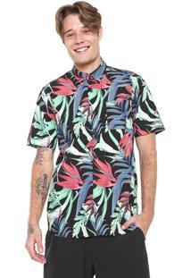 Camisa Hurley Reta Jungle Trip Preta