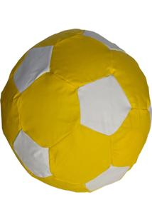 Puff Ball Futebol Infantil Pop Amarelo E Branco Stay Puff