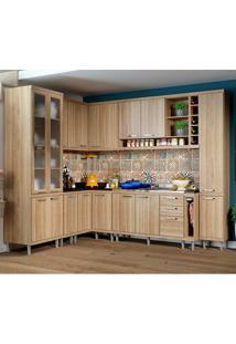 Cozinha Compacta Sem Tampo 10 Peças 5804-S3 - Sicília - Multimóveis - Argila Acetinado