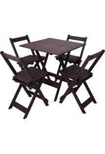 Conjunto Ita Dobrável Mesa E 4 Cadeiras Entalharte 70.4