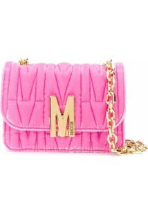 Moschino Monogram Quilted Shoulder Bag - Rosa