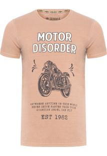 Camiseta Masculina Motor Disorder - Bege