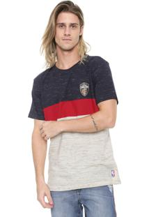Camiseta Nba Cleveland Cavaliers Vermelha/Azul-Marinho
