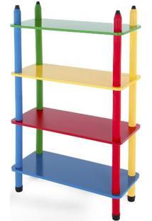 Prateleira Colorida - Mad. - 24 Peças - Caixa De Papelão Colorido Carlu Brinquedos