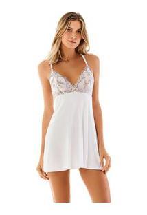 Camisola Curta Detalhe Renda Branco
