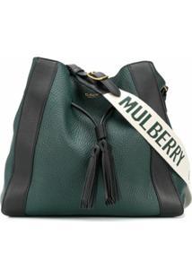 Mulberry Bolsa Tote Milla Pequena Com Frivela - Verde