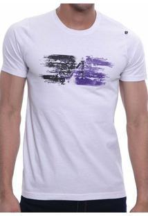 Camiseta Oitavo Ato Paint Masculina - Masculino-Branco