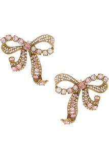 Dolce & Gabbana Par De Brincos Laço - Dourado