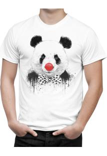 Camiseta Bottonshirt Clown Panda Branca
