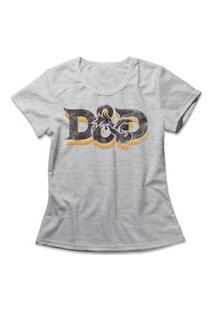 Camiseta Feminina Dungeons & Dragons Cinza