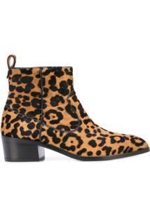 Veronica Beard Ankle Boot De Oncinha - Marrom