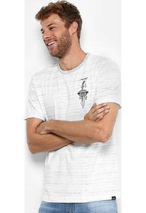 Camiseta Globe Flamê Evil Knife Masculina - Masculino-Off White