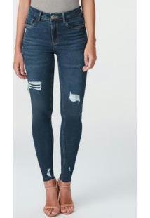 Calça Azul Escuro Push Up Flex Jeans