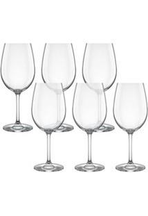 Conjunto De Taças Para Vinho Tinto Carpe Diem 450Ml 6 Peças - Nadir
