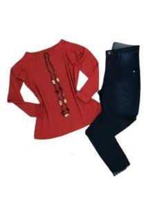 Calça Jeans Plus Size Feminina Barra Desfiada