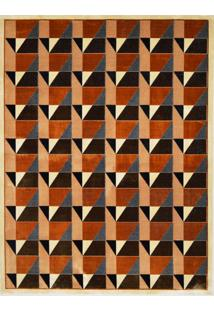 Tapete Marbella Copérnico Retangular (150X200Cm) Caramelo E Preto