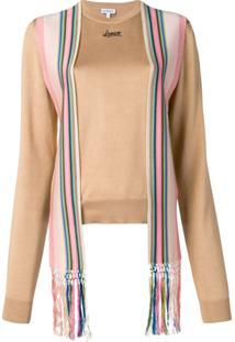 Loewe Suéter Com Detalhe De Lenço Na Gola - Marrom