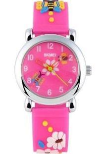 Relógio Infantil Skmei Analógico Feminino - Feminino-Rosa