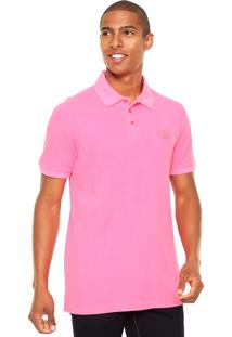 Camisa Polo Colcci Brasil Rosa