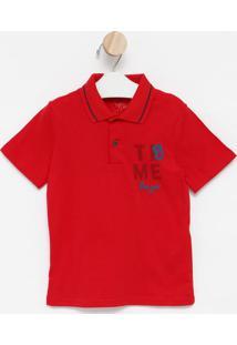 Polo ''Boys''- Vermelha & Azul Escuro- Kids- Gazgaz Pop