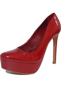 Scarpin Lisbella Bico Redondo Vermelho
