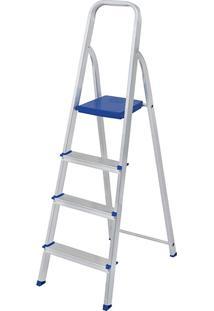 Escada De Alumínio 4 Degraus Mor - Multistock