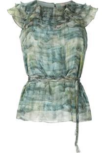 Fillity Blusa De Seda Estampada - Estampado