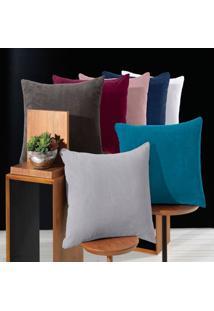 Porta Travesseiro Blend Malha - 100% Poliéster - Altenburg - Vermelho Vision