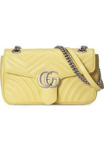 Gucci Bolsa Tiracolo Gg Marmont Pequena - Amarelo