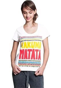 Camiseta Feminina Hakuna Matata Geek10 - Branco