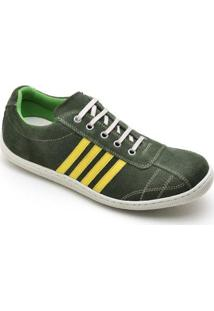 Sapatênis Top Franca Shoes Casual Masculino - Masculino-Verde