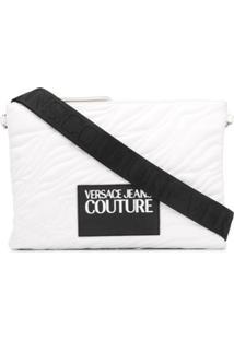 Versace Jeans Couture Clutch Matelassê Com Logo - Branco