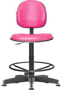 Cadeira Caixa Alta Executiva Giratória Courvin Rosa